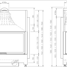 Ekko L 100 45 45-51-57h   Vorder- und Seitenansicht